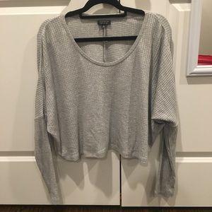 NWOT Topshop Waffle Knit Sweatshirt
